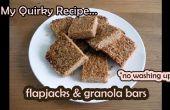 """Maïsmeel & Granola Bars - """"geen afwas"""" eenvoudig recept"""