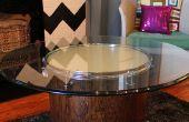 Hoe maak je een koffietafel gloeien van een gerecycled Drum