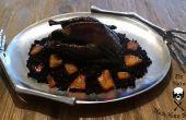 Gevogelte meeste Foul - geroosterde zwarte Zijdehoen kip met gerookte Paprika wrijf