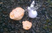 De verbrand uit duif (metaal-trash kunst)