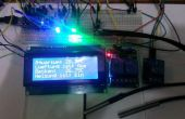 Arduino thermostaat met 2 x DS18b20 i2c 4 x 16 Display, 2 RGB LED's en 3 Relais
