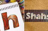 Hoe maak je gepersonaliseerde naambordjes met filigraan papier Strips | DIY Quilled papier brief | Home Decor
