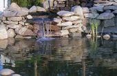 Waterval voor vijver of water tuin - gebouw Cascading vijver watervallen