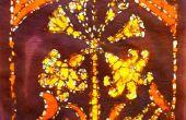 Batik afdrukken een muur opknoping