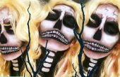 Sexy Blonde bom Skull Halloween Make-up Tutorial