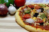 Vegetarische pizza van bloem naar oven..!!