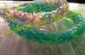 Dubbelcross één Rainbow Loom armband