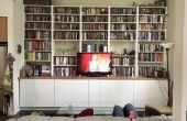 IKEA hack: ingebouwde kasten en boekenplanken
