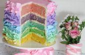 Pastel Ruffle regenboogcake