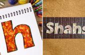Hoe maak je gepersonaliseerde naambordjes met Confetti | DIY Quilled papier brief | Home Decor