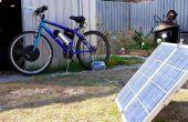 Elektrische fiets opladen met zonnepaneel