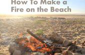 Hoe maak je een vuur op het strand
