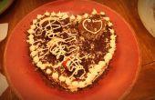 Valentijn chocolade aardbei taart
