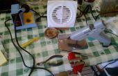 Rook extractor gemaakt van een afvoerventilator badkamer.