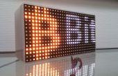 Een bericht op een LED-Matrix scrollen