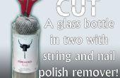 Hoe te knippen een fles met string en nagellak remover!