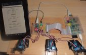 Raspberry webserver verzenden gegevens ophalen met Arduino Nano rijden 6 servo's