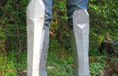 Hoe maak je Greaves (been Armor) van karton