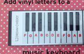 Etikettering van een toetsenbord van de muziek met een silhouet Vinyl Cutter