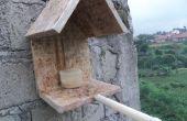 Eenvoudige vogel voeding huis
