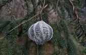 Hoe te leren jezelf te breien met draad (en misschien ook het maken van een Kerstbal)