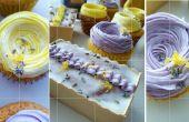 Citroen lavendel Cupcakes