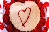 Rode fluwelen Valentijn hart taart