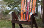 Bouw een tuinstoel van gerecycled Skis - de Ski stoel!