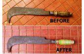 Herstellen van gebarsten Machete handvat met Rubber Bands