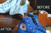 Verven van Converse Sneakers met behulp van Venus kleurstof