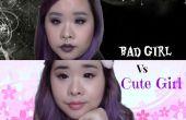 Bad Girl Vs schattig meisje make-up / schattig meisje make-up