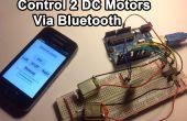 Controle van gelijkstroommotoren met uw Smartphone (Perfect voor een Robot)