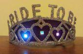 """Flonkerende LED """"Bruid"""" Bachelorette Tiara"""
