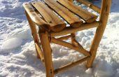 Bouw jezelf een rustieke houten stoel