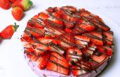 Gezonde rauwe Strawberry Cheesecake