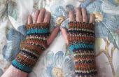Gebreide Vingerloze handschoenen