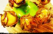 Trick or Treat karamel Apple beten met gekonfijte spekjes en meelwormen