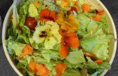 Orzo en nasturtium salade
