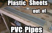 Plastic folie uit PVC-buizen