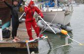 """Hoe te """"Vliegen"""" een menselijke aangedreven draagvleugelboot - de """"Aquaskipper"""""""