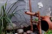 Koperen pijp Japanse Shishi-odoshi fontein