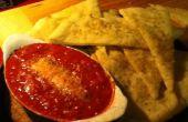 Flatbread voorgerecht w/geroosterde tomaten en geitenkaas (aka lekker voorgerecht)