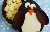 Chocolade Penguin dozen gevuld met witte chocolade sneeuwvlokken