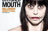 Gestikt mond - SFX make-up Tutorial