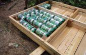 Bouwen van een dok met behulp van Heineken vaatjes
