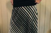 Hoe te maken van een bias rok met brede elastische tailleband cut