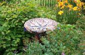 Maken van een excentrieke mozaïek tuin Ornament