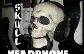 Wandmodellen schedel hoofdtelefoon Stand