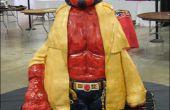 Hoe maak je een gebeeldhouwde Hellboy taart