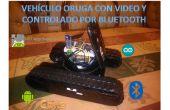 Tanque Oruga con video, controlado por android (app uitvinder) zwaartelijn bluetooth
